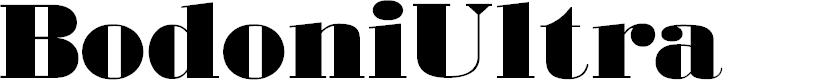 Preview image for BodoniUltraFLF Font