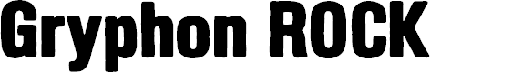 Preview image for GryphonRock Font