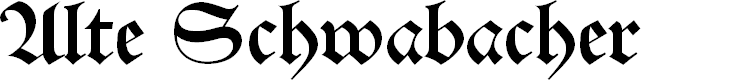 Preview image for Alte Schwabacher Font