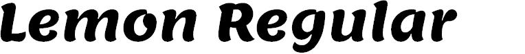 Preview image for Lemon Regular Font