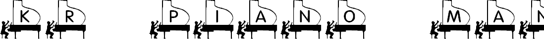 Preview image for KR Piano Man Font