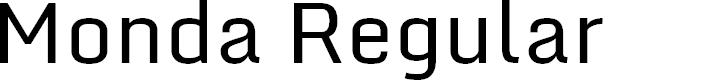 Preview image for Monda Regular Font