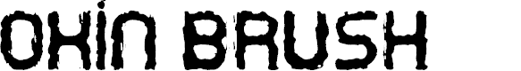 Preview image for Oxin Brush Font