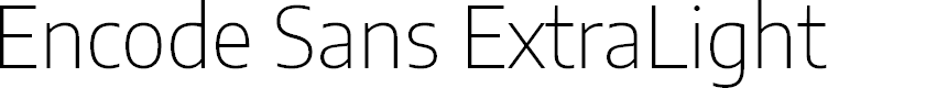 Preview image for Encode Sans ExtraLight