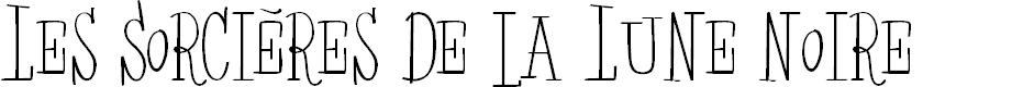 Preview image for Les Sorcières de la Lune noire Font