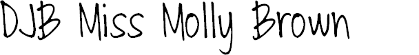 Preview image for DJB Miss Molly Brown Font