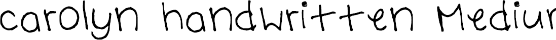 Preview image for carolyn handwritten Medium Font