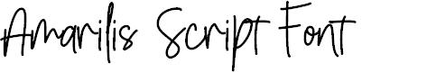 Preview image for Amarilis Script Font