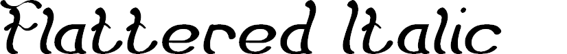 Preview image for Flattered Italic