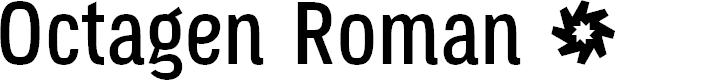 Preview image for Octagen Roman Regular Font