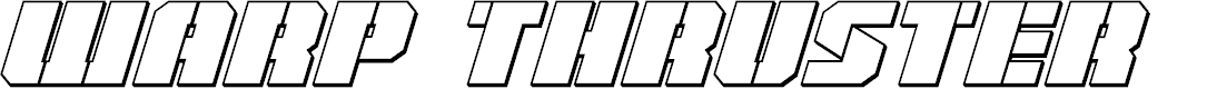 Preview image for Warp Thruster 3D Italic