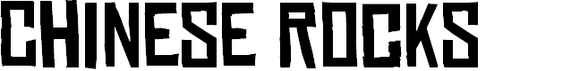 Preview image for Chinese Rocks Font