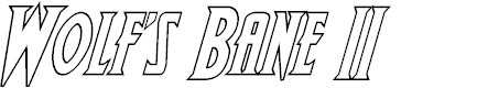 Preview image for Wolf's Bane II Outline Italic