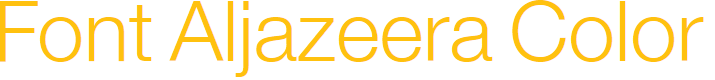 Preview image for Font Aljazeera Color