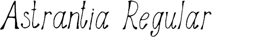 Preview image for Astrantia Regular Font