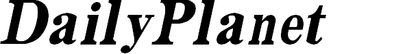 Preview image for DailyPlanet BlackItalic