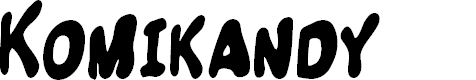 Preview image for Komikandy Font