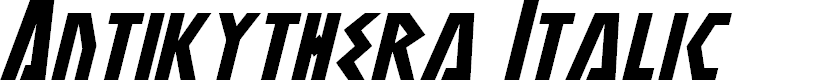 Preview image for Antikythera Italic
