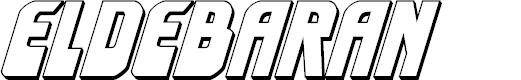 Preview image for Eldebaran 3D Italic