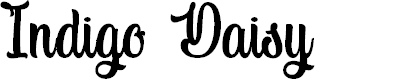 Preview image for Indigo Daisy Font