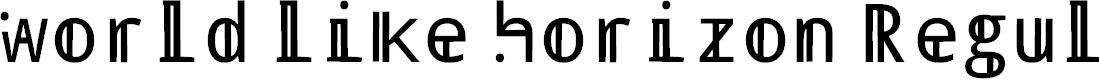 Preview image for world like horizon Regular Font