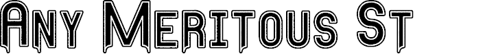 Preview image for Any Meritous St Font