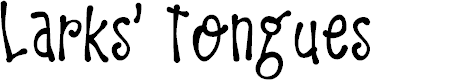 Preview image for DK Larks Tongues Regular Font