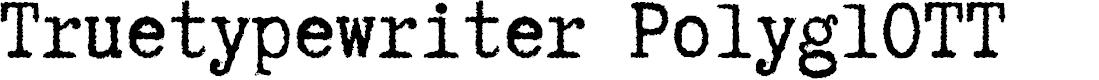 Preview image for Truetypewriter PolyglOTT Font