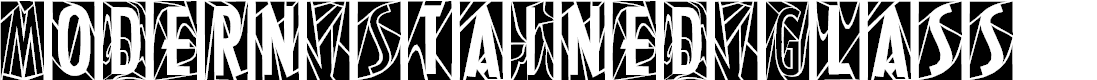 Preview image for ModernStainedGlass Font