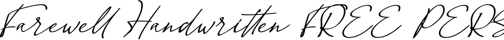 Preview image for Farewell Handwritten (FREE PERS Font