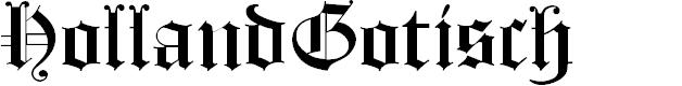 Preview image for HollandGotisch Font