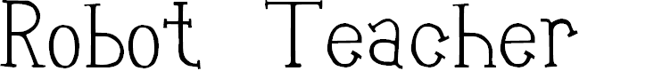 Preview image for Robot Teacher Font