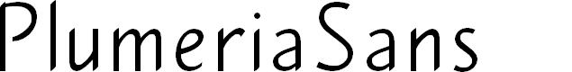 Preview image for PlumeriaSans Font