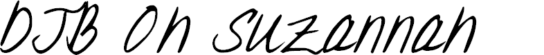 Preview image for DJB Oh Suzannah Font