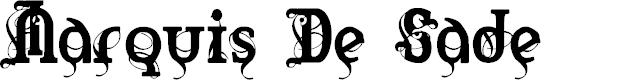 Preview image for Marquis De Sade Font