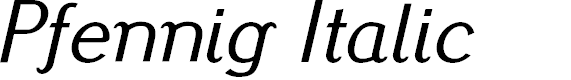 Preview image for Pfennig Italic