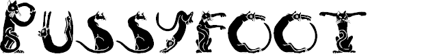 Preview image for PussyfootA Font