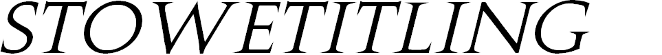 Preview image for Stowe Titling Italic