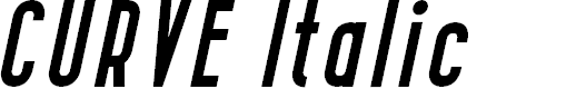 Preview image for CURVE Italic