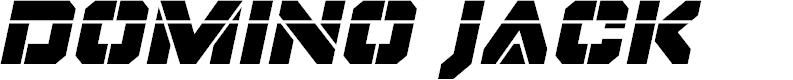 Preview image for Domino Jack Laser Italic Italic