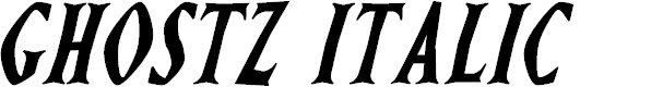Preview image for Ghostz Italic