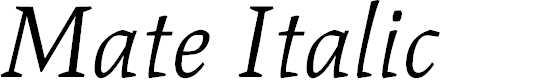 Preview image for Mate Italic