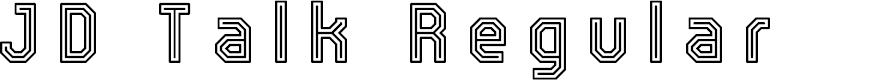 Preview image for JD Talk Regular Font