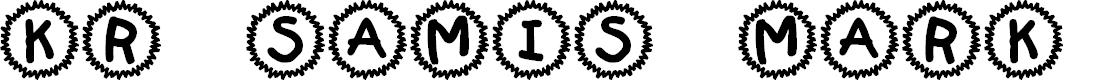 Preview image for KR Sami's Mark Font