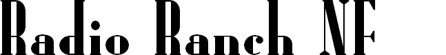 Preview image for Radio Ranch NF Font