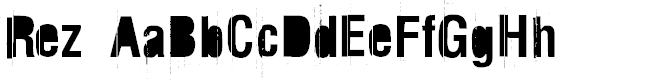 Preview image for Rez Font