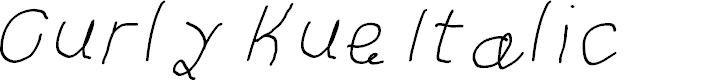 Preview image for Curly Kue Italic