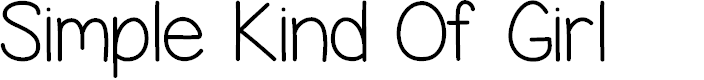 Preview image for Simple Kind Of Girl Font