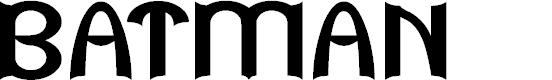Preview image for BATMAN Font