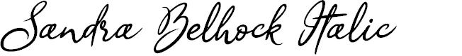 Preview image for Sandra Belhock Italic Font